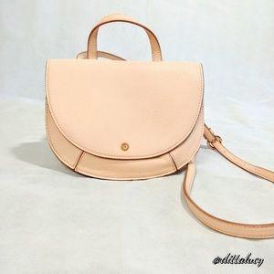 Lauren Conrad Tan/Pink crossbody purse